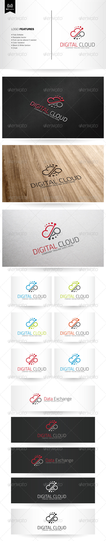 Digital Cloud Logo - Abstract Logo Templates