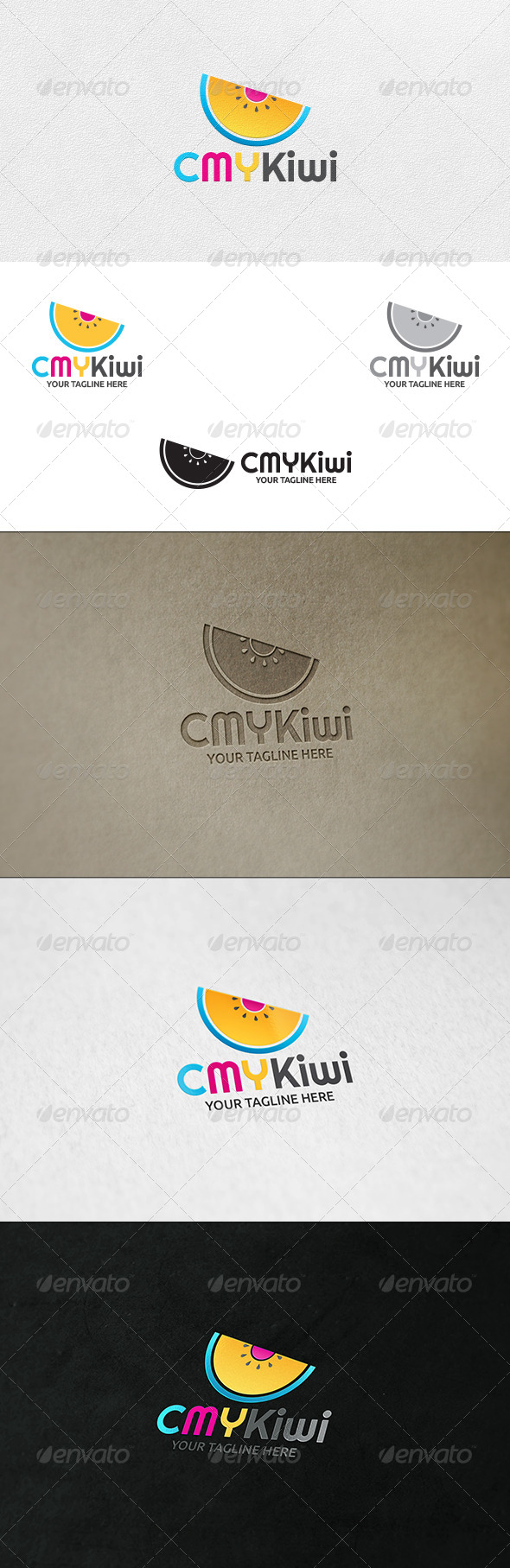 CMYKiwi - Logo Template - Nature Logo Templates