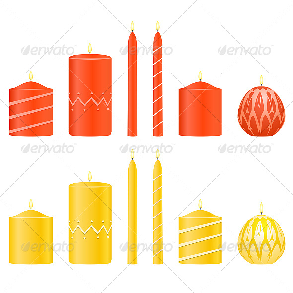 Vector Set Candles - Objects Vectors