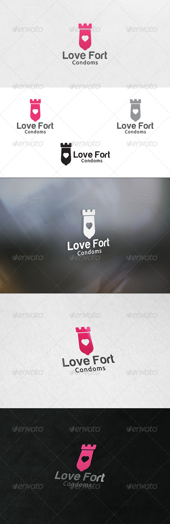 Love Fort - Logo Template - Buildings Logo Templates