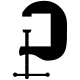 black carpentry clamp icon - GraphicRiver Item for Sale