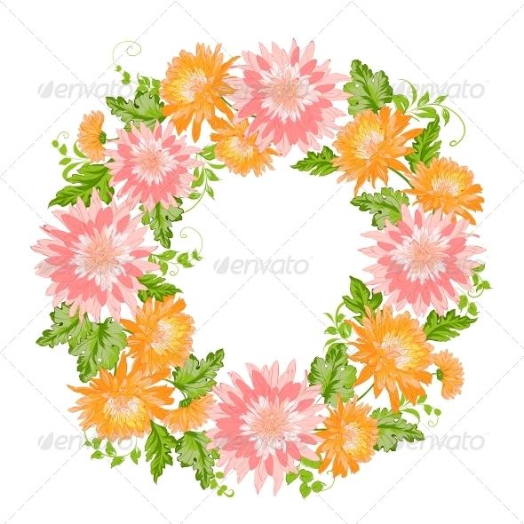 Chrysanthemum Garland Composition. - Valentines Seasons/Holidays