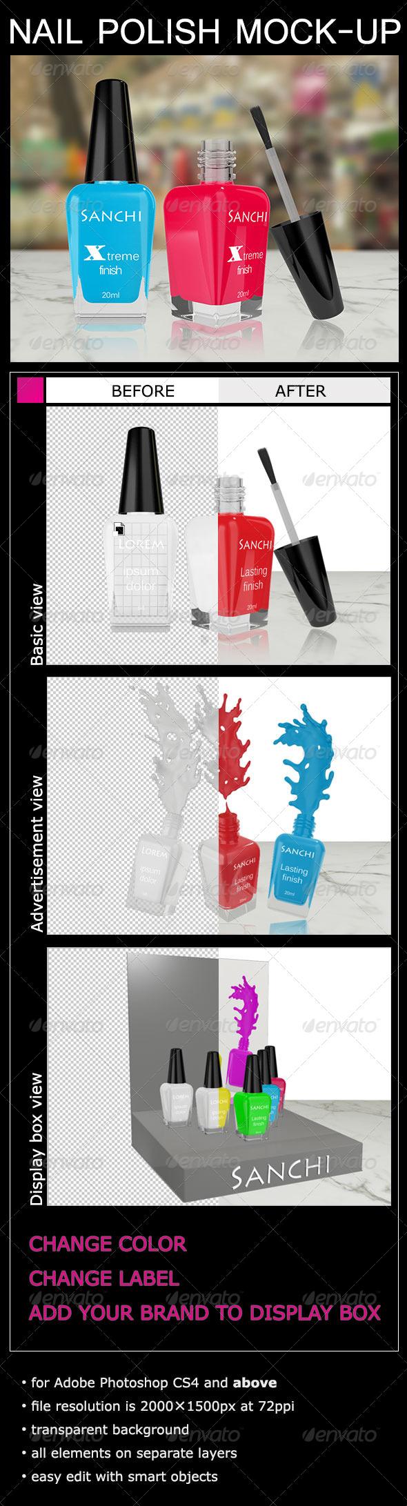 Nail Polish Mock-Up - Product Mock-Ups Graphics