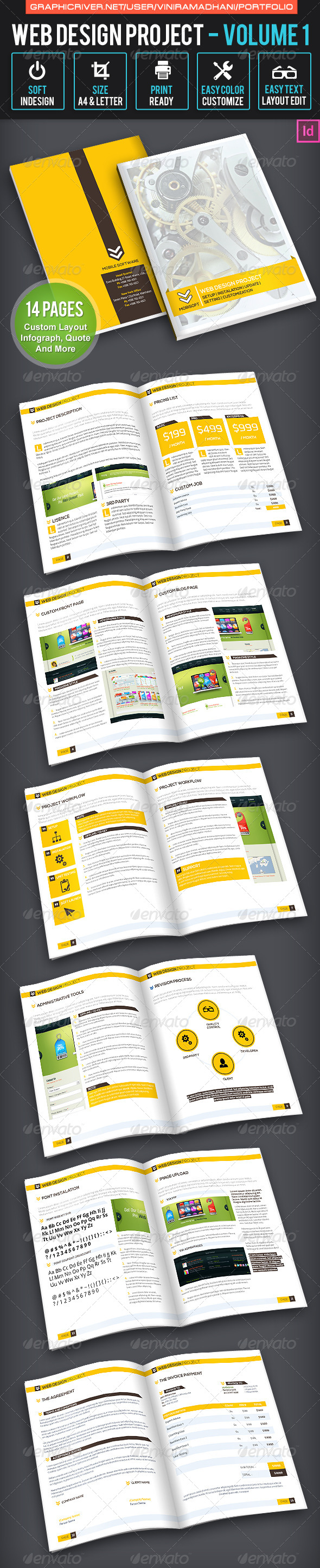 Web Design Project | Volume 1 - Proposals & Invoices Stationery