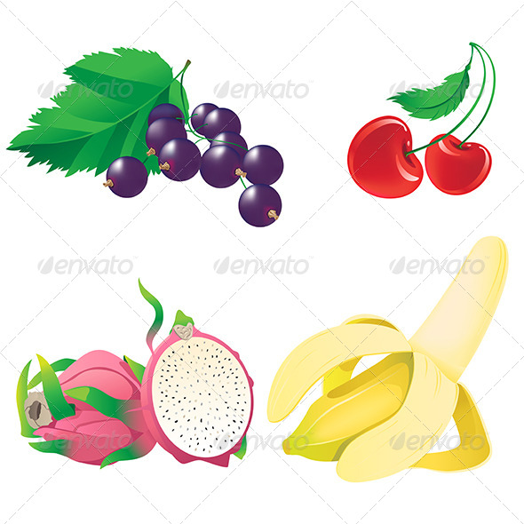 Fruit and Berry. - Food Objects