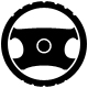 black steering wheel icon - GraphicRiver Item for Sale