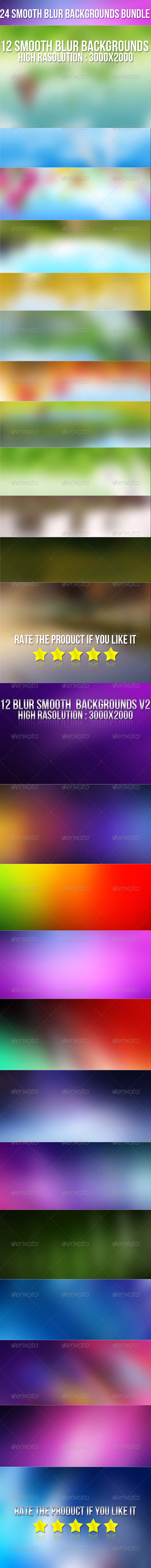 24 Smooth Blur Background Bundle - Abstract Backgrounds