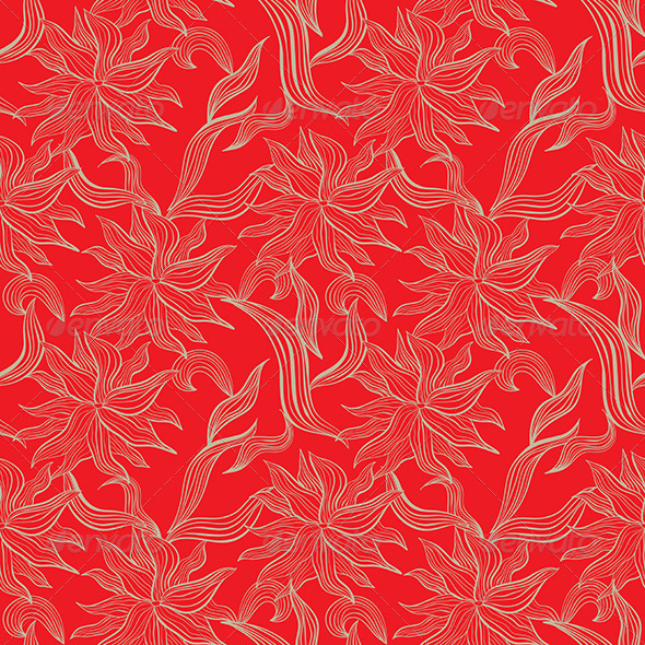 Red Seamless Pattern - Backgrounds Decorative