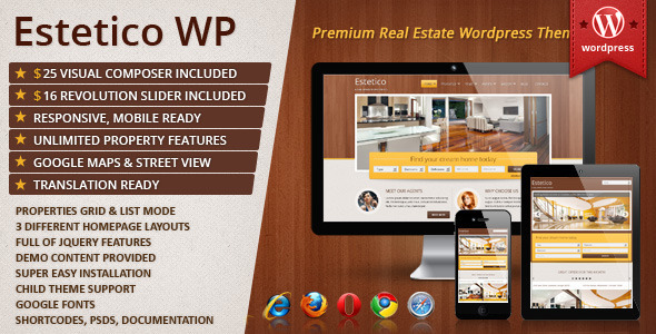 Estetico Premium Real Estate WP Theme - Real Estate WordPress
