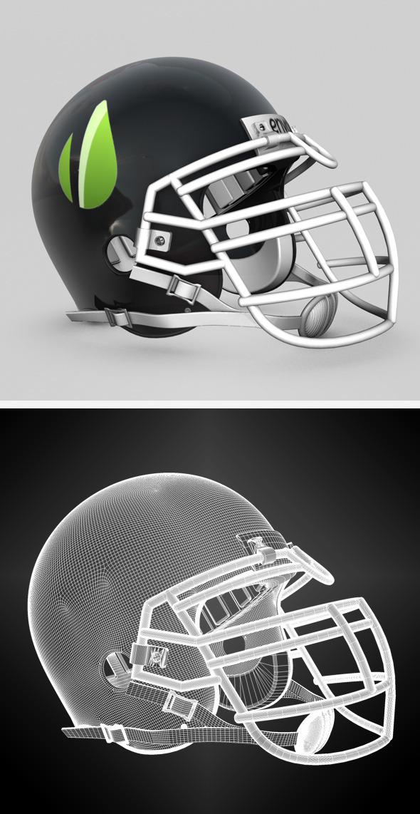 Generic NFL Football Helmet - 3DOcean Item for Sale