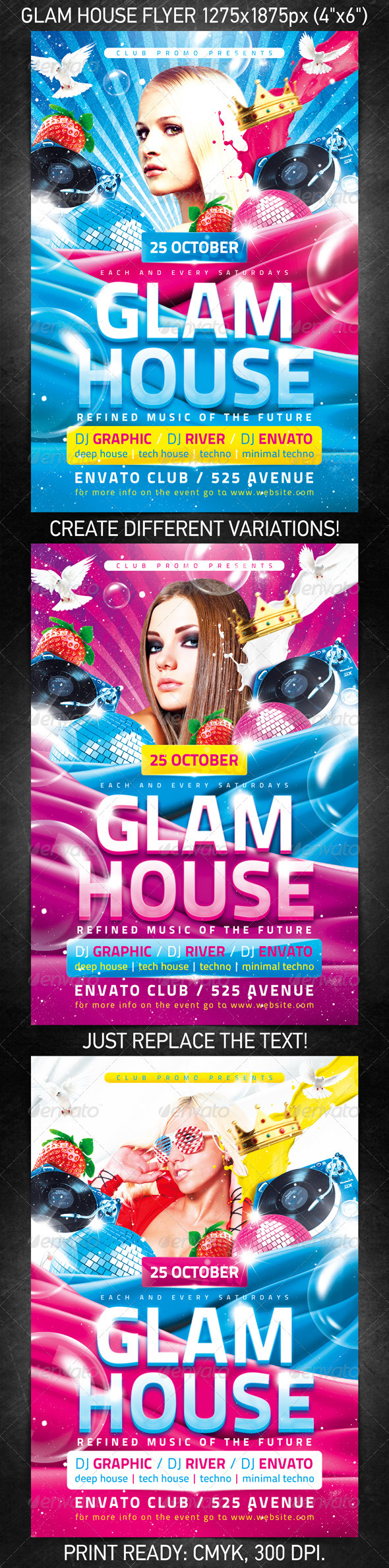 Glam House Flyer - Clubs & Parties Events