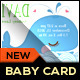 Baby Announcement Card - Whale - GraphicRiver Item for Sale