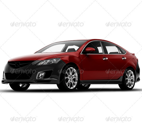 Red Car - 3D Renders Graphics