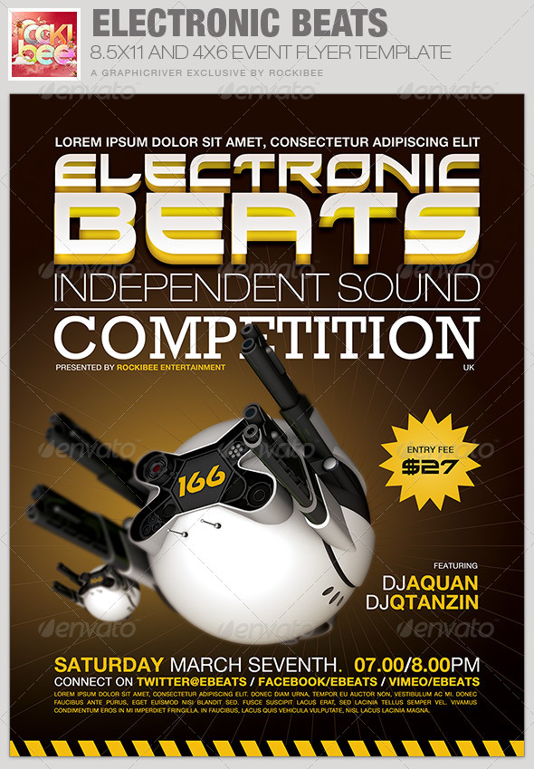 Electronic Beats Event Flyer Template - Events Flyers