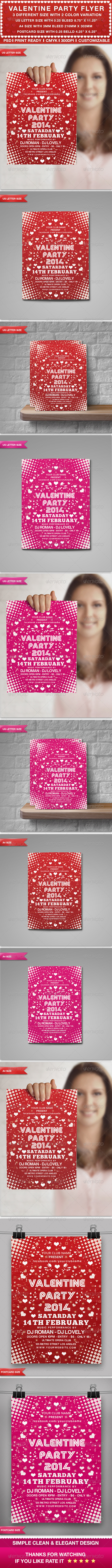 Valentine's Party Flyer  - Clubs & Parties Events