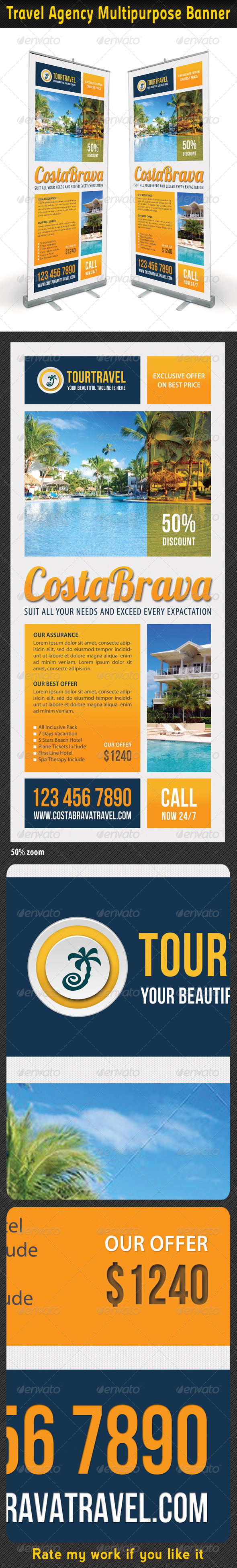 Travel Agency Banner Template 04 - Signage Print Templates