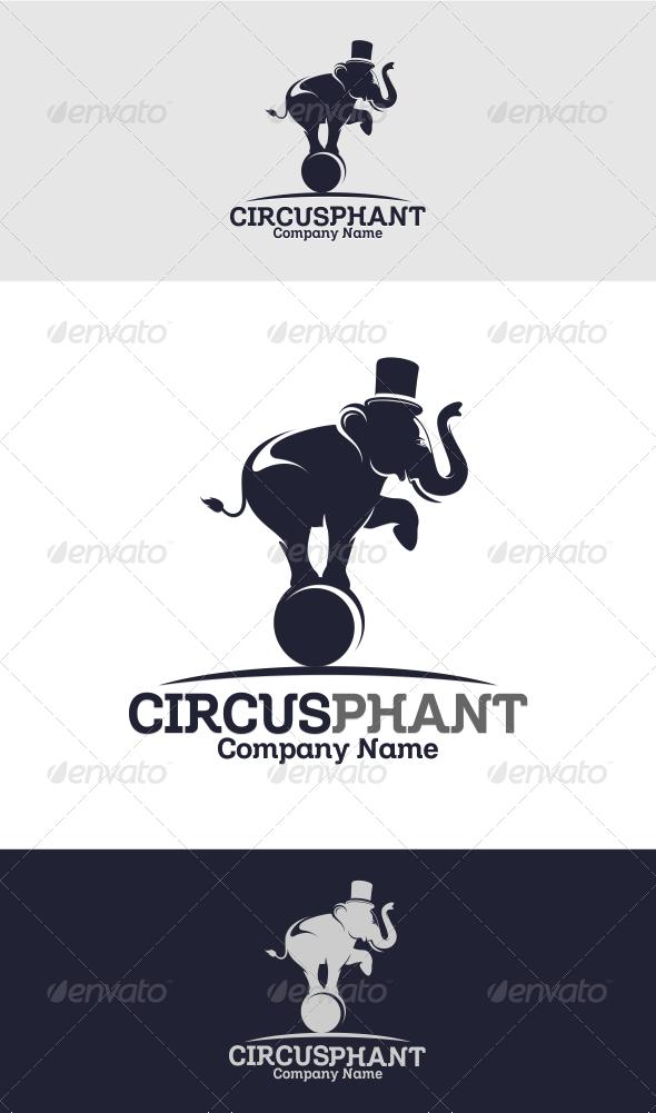 Circus Phant Logo Template - Animals Logo Templates