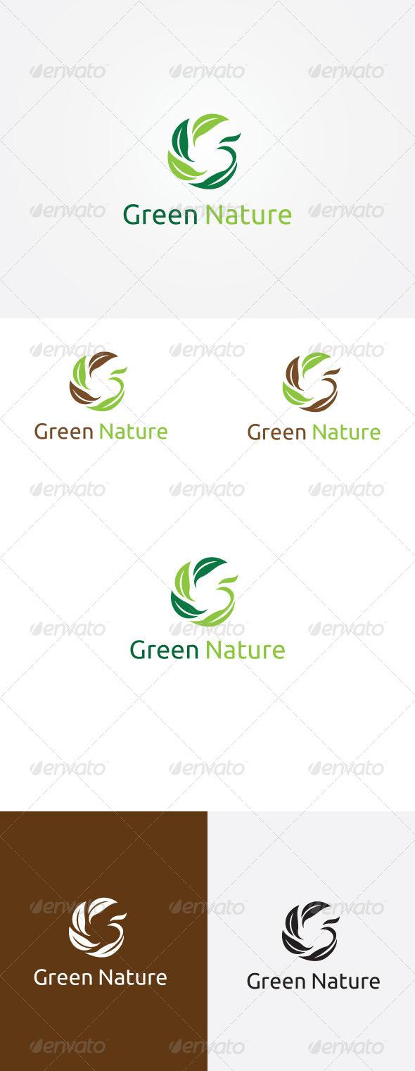 Leaf G Letter Logo - Symbols Logo Templates