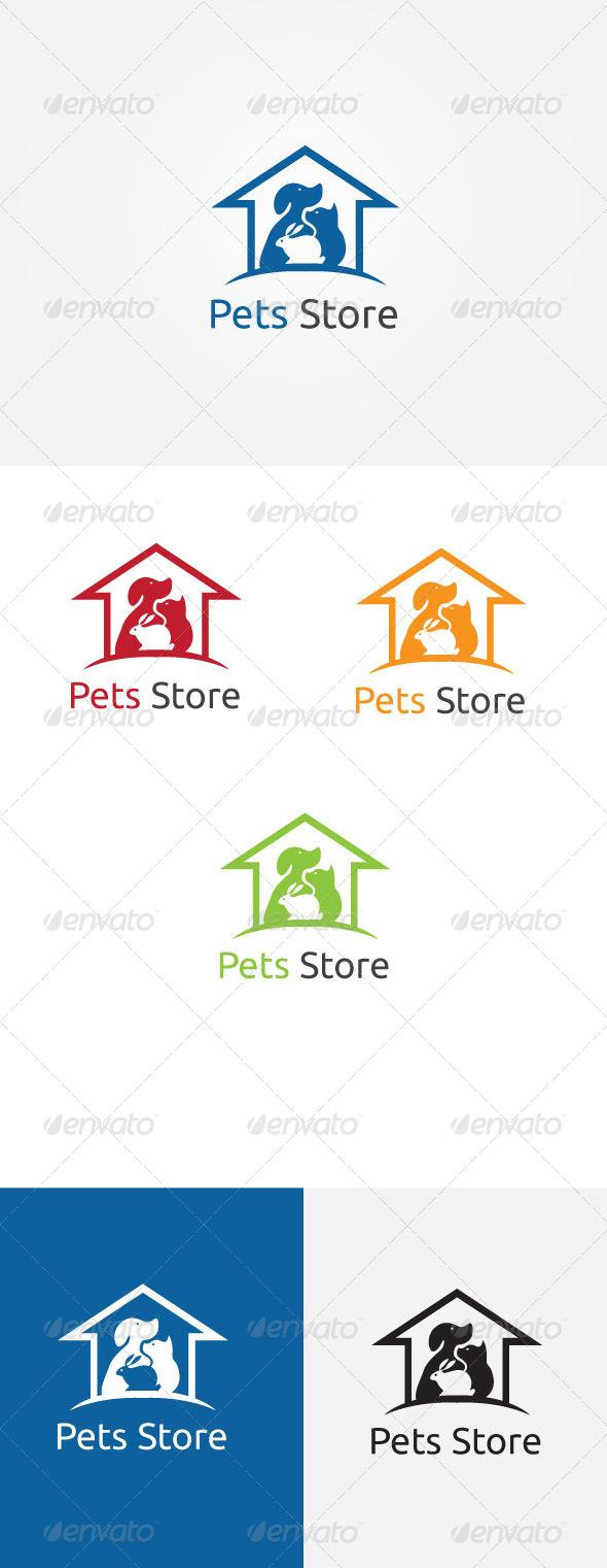 Pets House Logo - Symbols Logo Templates