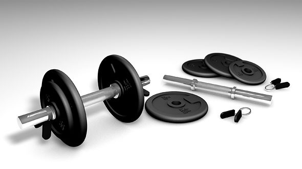 Weight Set and Render Setup - 3DOcean Item for Sale