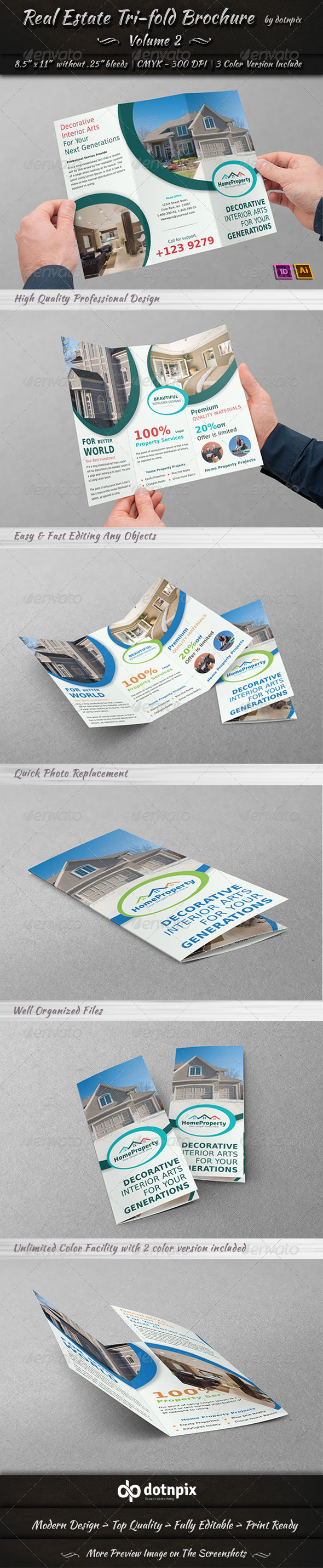 Real Estate Business TriFold Brochure | Volume 2 - Corporate Brochures