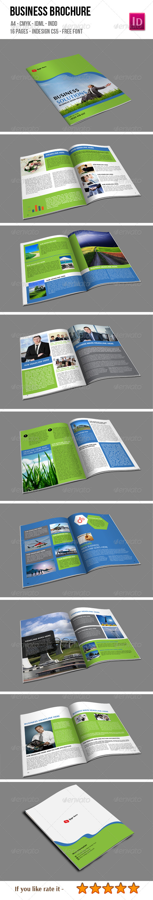 16 Pages Business Brochure - Corporate Brochures