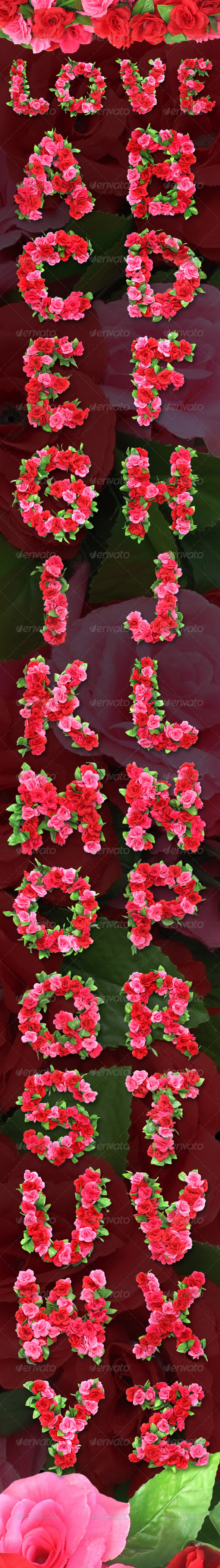 Roses Alphabet  - Miscellaneous Graphics