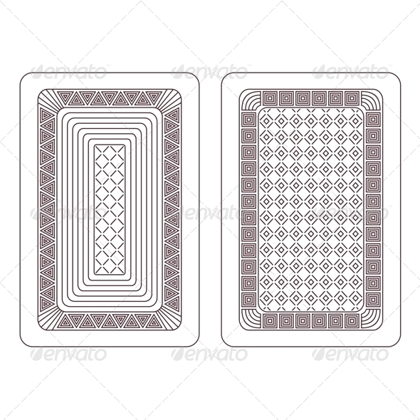 Ornament for Playing Cards - Patterns Decorative