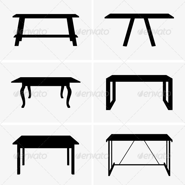 Tables - Man-made Objects Objects