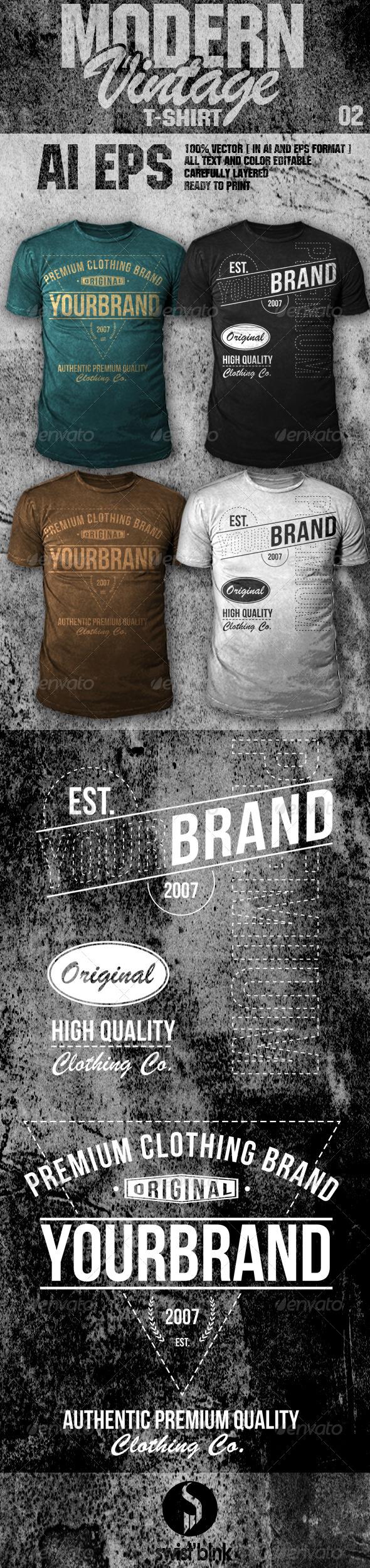 Modern Vintage T-Shirt 02  - Designs T-Shirts