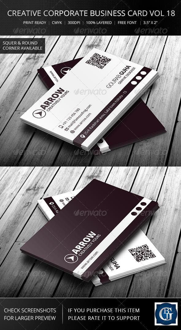 Creative Corporate Business Card Vol 18 - Corporate Business Cards