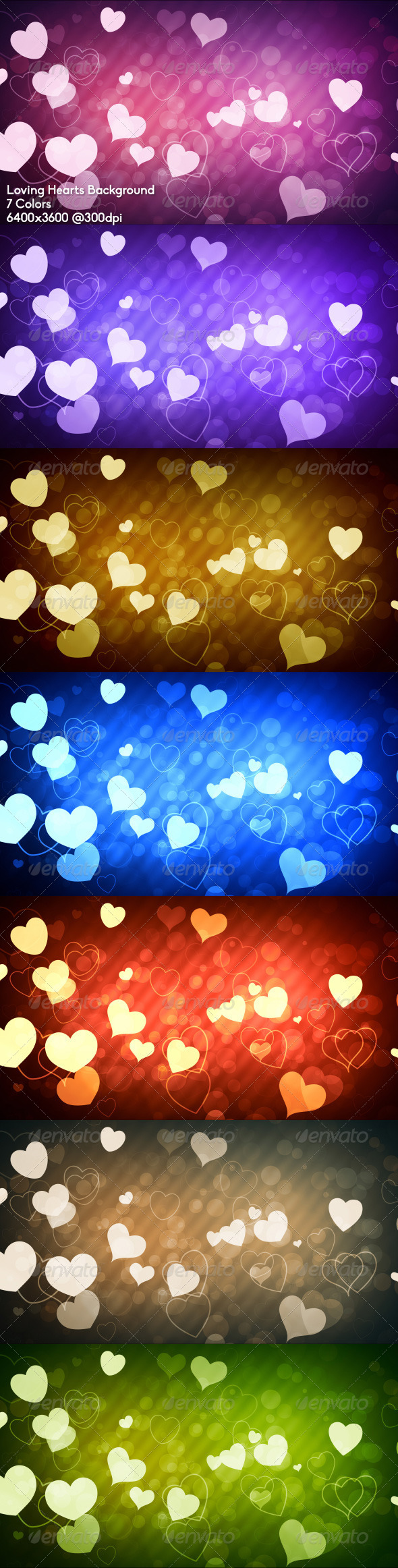 Loving Hearts Background - Abstract Backgrounds