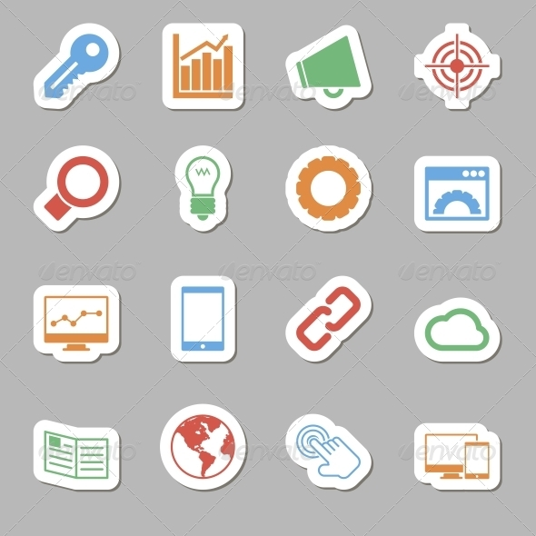 Seo Icons as Labes - Technology Icons