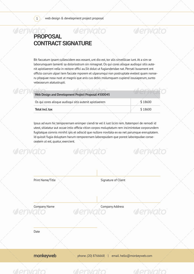 Web Design Proposal by broluthfi | GraphicRiver