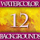 Set of 12 Colorful Watercolor Backgrounds, 1 - GraphicRiver Item for Sale