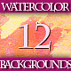 Set of 12 Colorful Watercolor Backgrounds, 2 - GraphicRiver Item for Sale