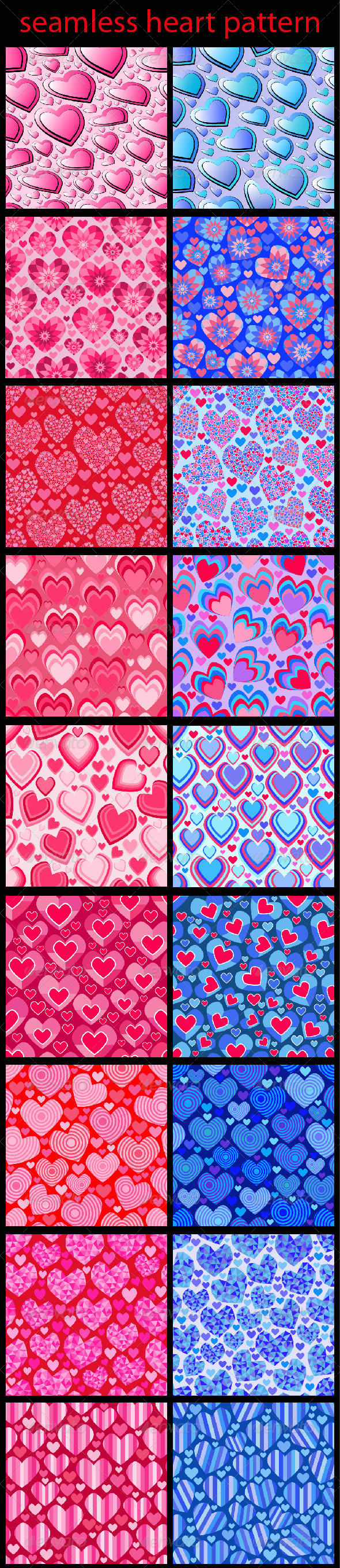 Seamless Heart Patterns - Patterns Decorative