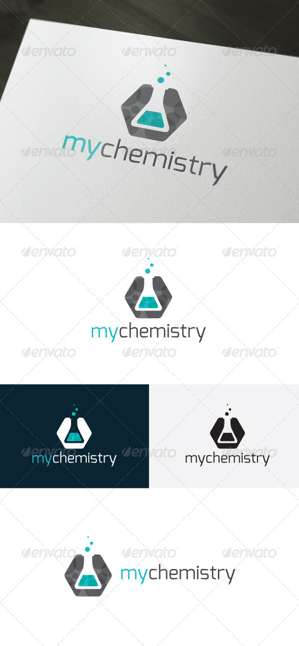My Chemistry Logo - Objects Logo Templates