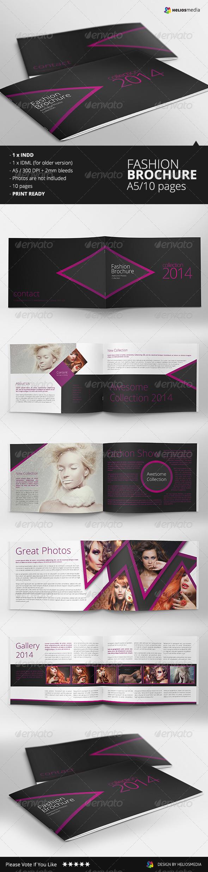 Fashion A5 Brochure / Catalog - Brochures Print Templates