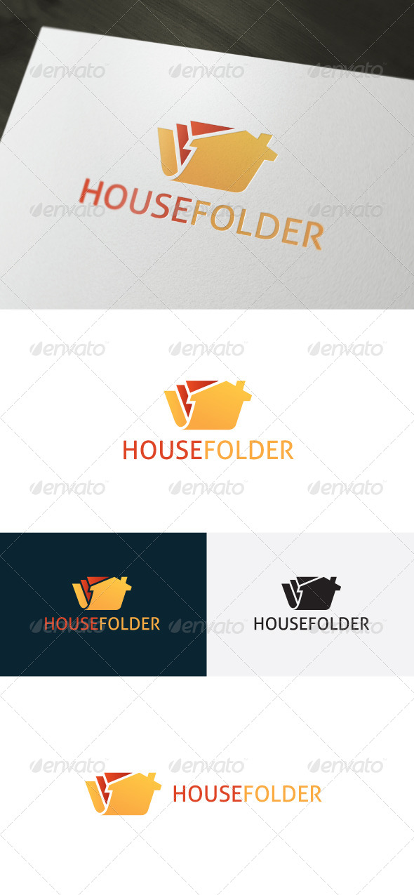 House Folder Logo - Buildings Logo Templates