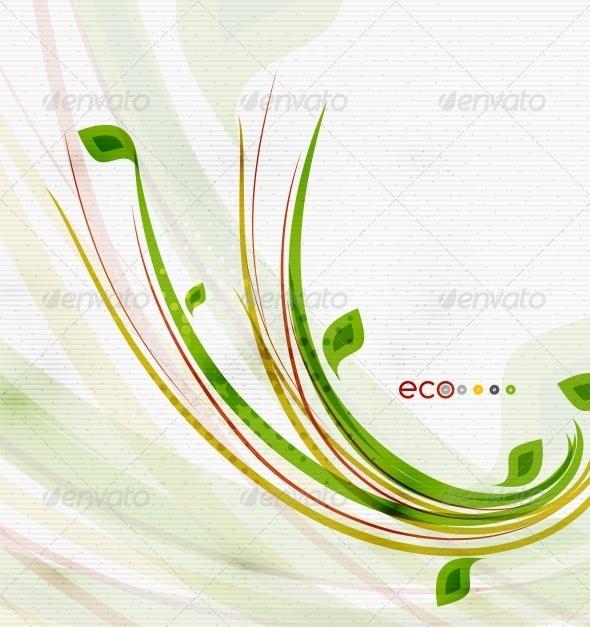 Green Eco Nature Minimal Floral Concept - Flowers & Plants Nature