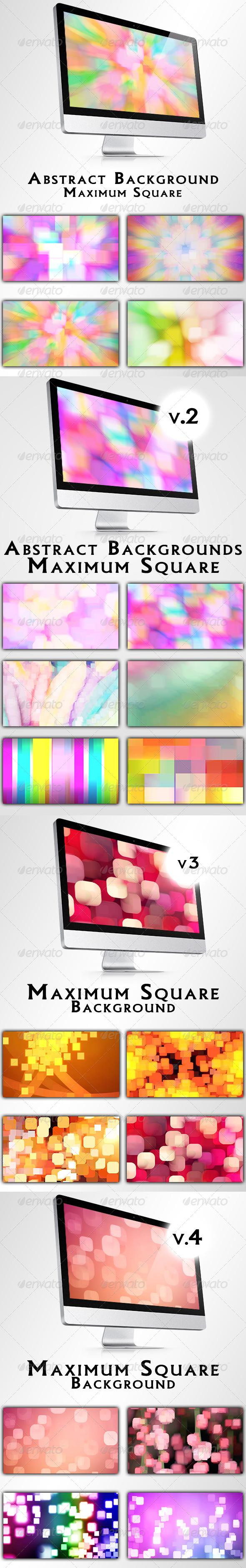 Maximum Square Backgrounds Bundle - Backgrounds Graphics