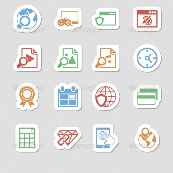 Seo Icons as Labes Vol 3 - Technology Icons