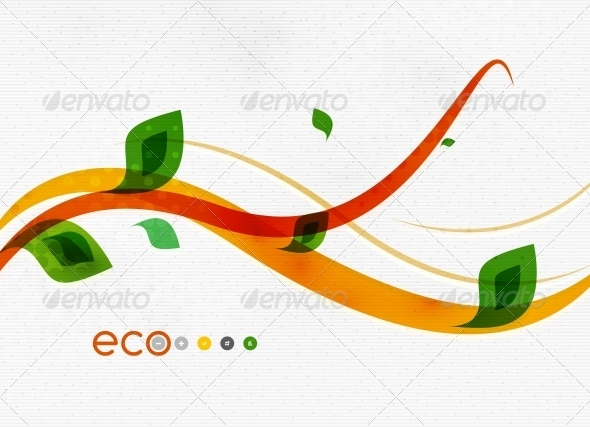 Green Eco Nature Minimal Floral Concept - Flowers & Plants Nature