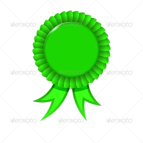 Award Green Ribbon - Borders Decorative