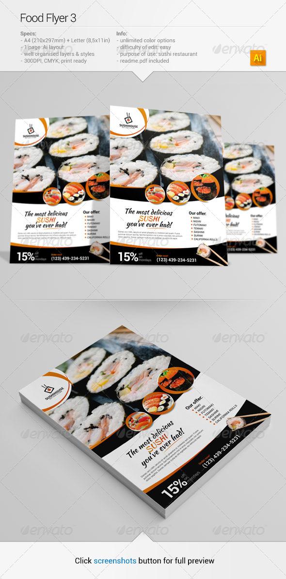Food Flyer 3 - Restaurant Flyers