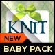 Baby Invitation Package - Knitting Love - GraphicRiver Item for Sale