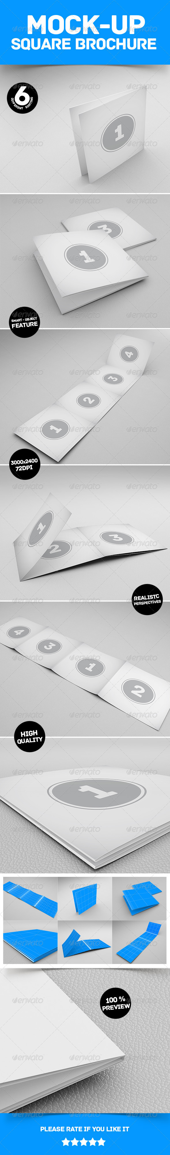 Mockup Square Brochure - Product Mock-Ups Graphics