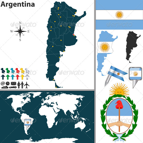 Map of Argentina - Travel Conceptual
