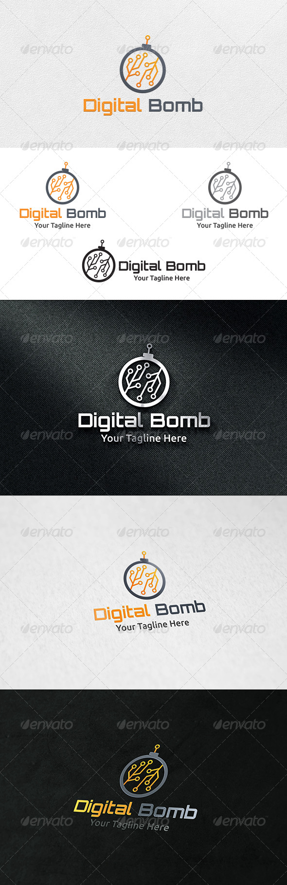 Digital Bomb - Logo Template - Objects Logo Templates